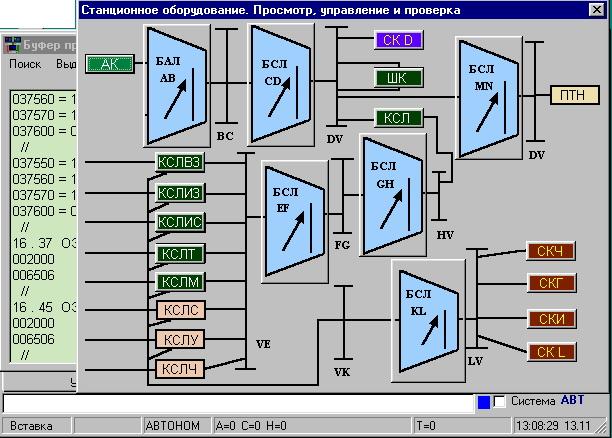 В процессе выбора обьектов, оператор получает исчерпывающую информацию по физическому расположению секции или...